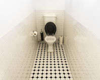 Public restroom in sparse colors Royalty Free Stock Images