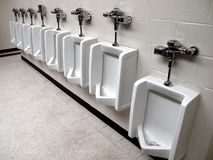 Public Restroom Urinals Royalty Free Stock Photo