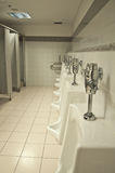 Public Restroom Urinals Royalty Free Stock Photography