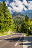 Public road in the mountains Royalty Free Stock Photos