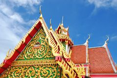 Public Rooftop Thai Temple Stock Photography