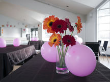Public room decorated for party Stock Photos