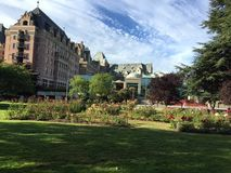 Public rose garden in Victoria, British Columbia Canada Stock Photo