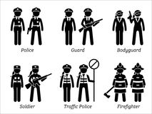 Public Safety Jobs and Occupations for Women. Stock Images