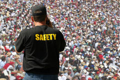 Public safety officer. Watches the crowd Stock Images