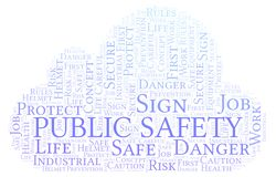 Public Safety word cloud. vector illustration