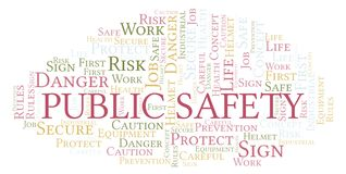 Public Safety word cloud. stock illustration