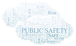 Public Safety word cloud. royalty free illustration