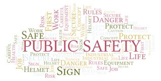 Public Safety word cloud. Word cloud made with text only royalty free stock photography