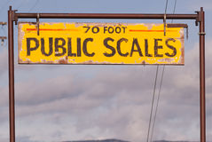 Public Scales Sign Vintage Agriculture Area Clearing Storm stock photos