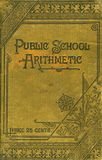 Public School Arithmetic book royalty free stock photo