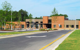 Public school building. Newly completed public school building Royalty Free Stock Images