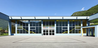 Public school, building from the outside Royalty Free Stock Images