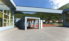 Public school, entry building Stock Images