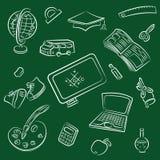 Public school and graduation icon Stock Photography