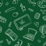 Public school and graduation seamless pattern Stock Image