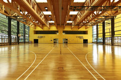 Public school, interior gym stock photos