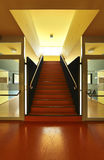 Public school, red staircase Stock Images