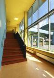 Public school, staircase and corridor Royalty Free Stock Photos