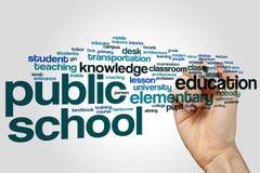 Public school word cloud Royalty Free Stock Photos