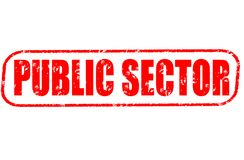 Public sector stamp. Public sector red stamp on white Royalty Free Stock Photo