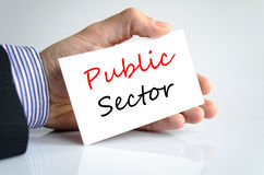 Public sector text concept. Over white background Stock Photo