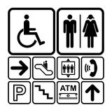 Public service sign icon set Royalty Free Stock Photo