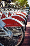Public Service Vehicles bicycles. Vodafone Bicing in Barcelona Stock Photo