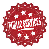 Public services grunge label, sticker. Public services red label, sticker isolated on white background vector illustration