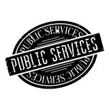 Public Services rubber stamp. Grunge design with dust scratches. Effects can be easily removed for a clean, crisp look. Color is easily changed stock illustration