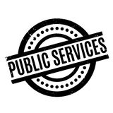 Public Services rubber stamp. Grunge design with dust scratches. Effects can be easily removed for a clean, crisp look. Color is easily changed royalty free illustration