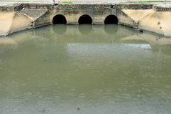 A public Sewer and public canal in the city Royalty Free Stock Photo