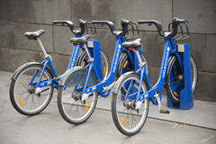 Public shared bicycles in melbourne australia Stock Photography