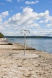 Public shower on the beach. croatia Stock Photo