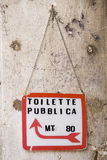Public Sign. Public toilet sign in Italian Stock Photography