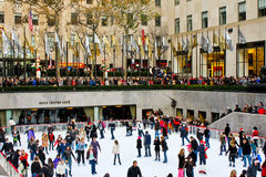 Public skating at Rockefeller Center, NYC Royalty Free Stock Photography