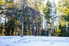 Public ski slope in Finland Royalty Free Stock Photo