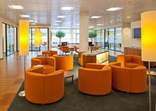 Public Space In Bank Office Royalty Free Stock Photo