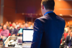 Public speaker at Business Conference. Royalty Free Stock Images