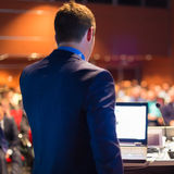 Public speaker at Business Conference. Royalty Free Stock Photography