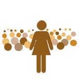 Public speaker illustration. Woman speaking before a large crowd illustration Stock Images