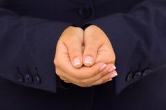 Public speaker making hand gesture Stock Photos