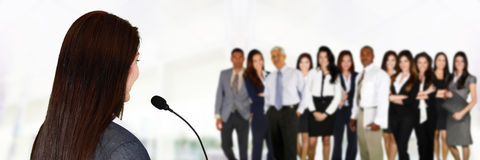 Public Speaker Royalty Free Stock Images