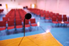 Public Speaking Stock Image