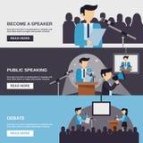 Public Speaking Banner Stock Photo
