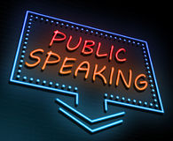 Public speaking concept. Stock Image