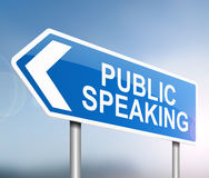 Public speaking concept. Stock Photos
