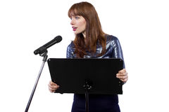 Public Speaking Female Royalty Free Stock Photos
