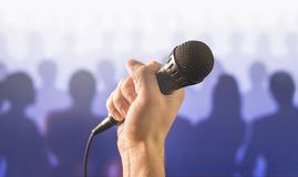 Public speaking and giving speech concept. Royalty Free Stock Photos
