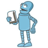Public speaking robot. Royalty Free Stock Photography